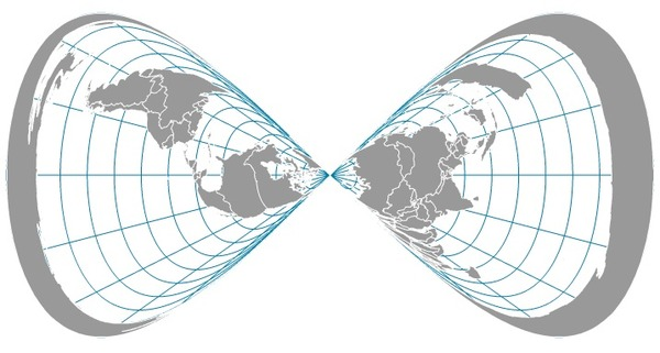 Azimuthal equidistant projection mistake