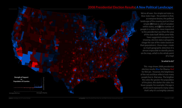 2008 election results with population
