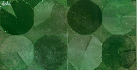 Pie charts in Google Maps aerial