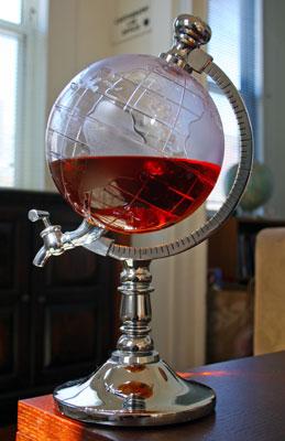Globe liquor tap