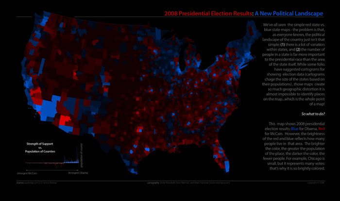 Election results by county with population