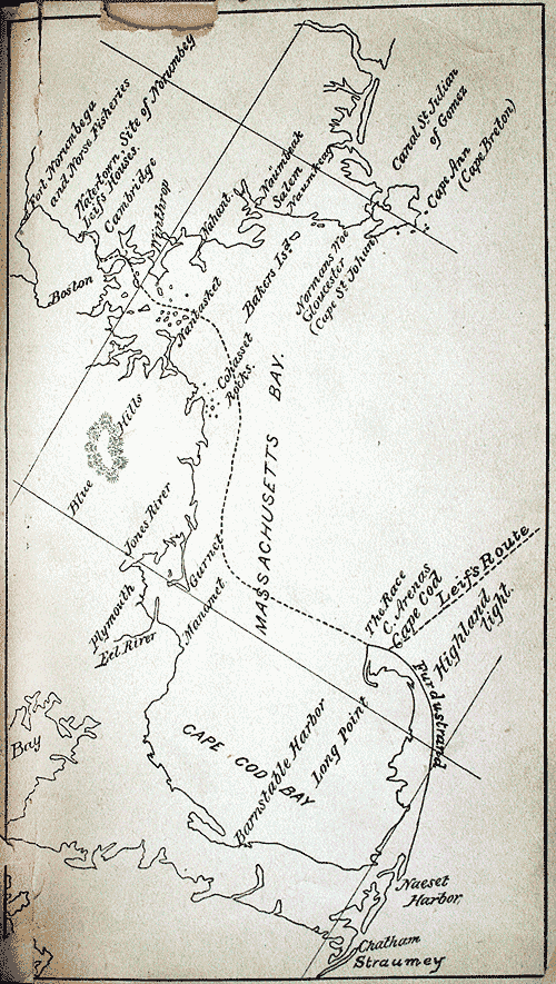 Leif Erikson's route into Massachusetts, according to Professor Horsford