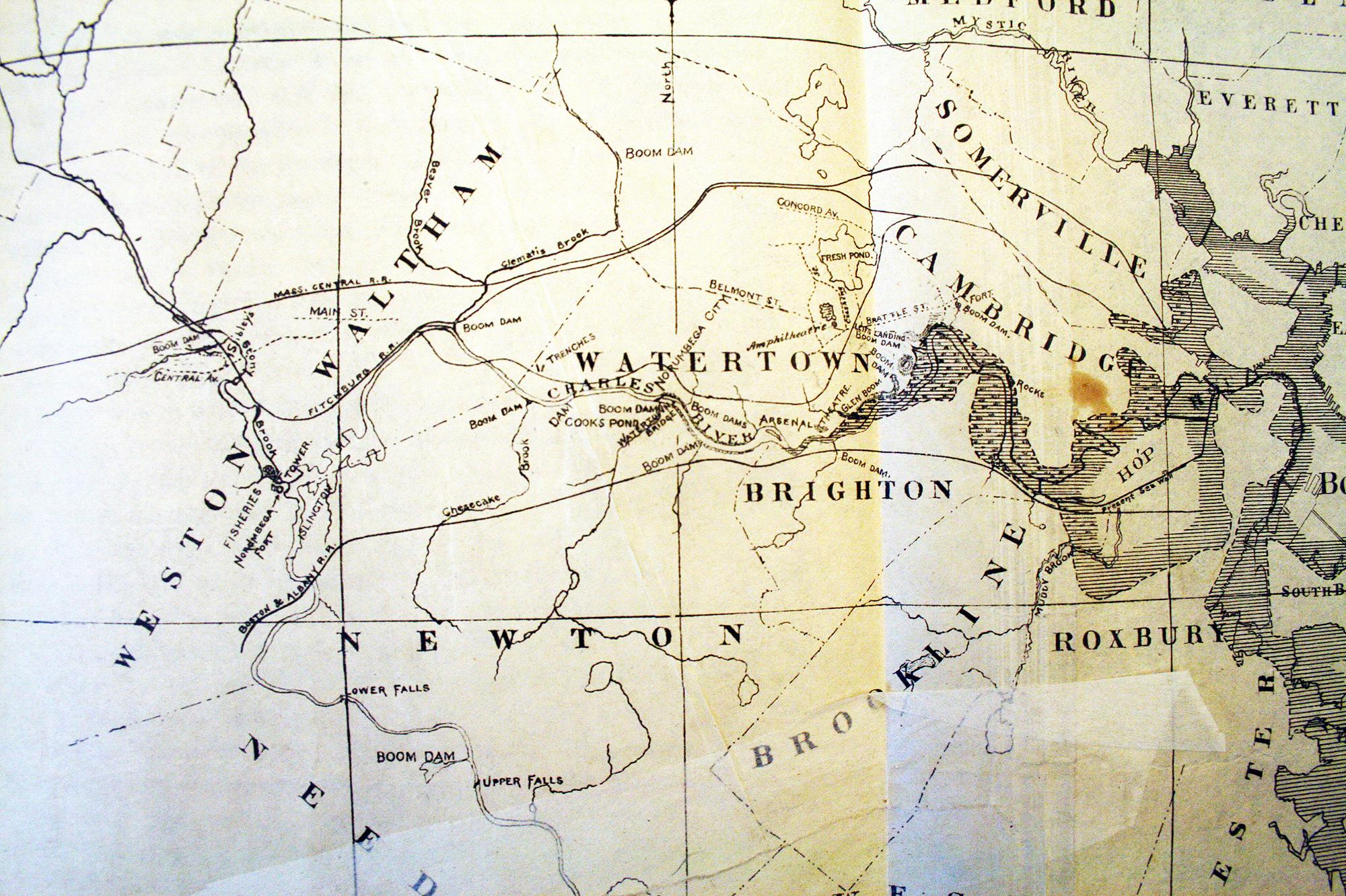 Map Of The Charles River As Viking Norumbega