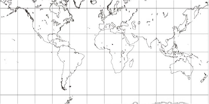 Mercator line map