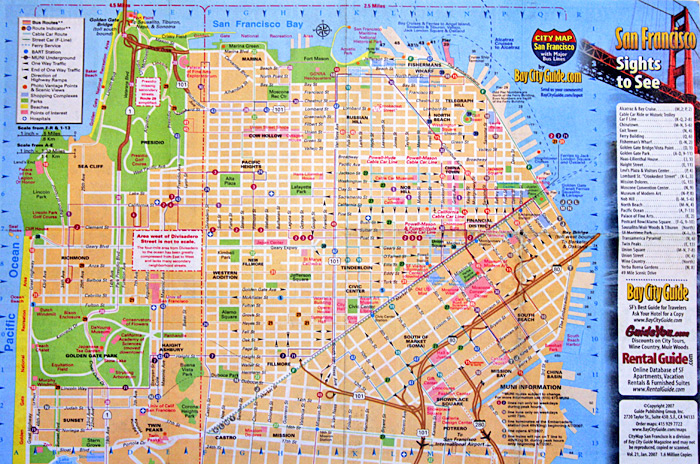 Maps Update 1200591 San Francisco Tourist Map 17 TopRated