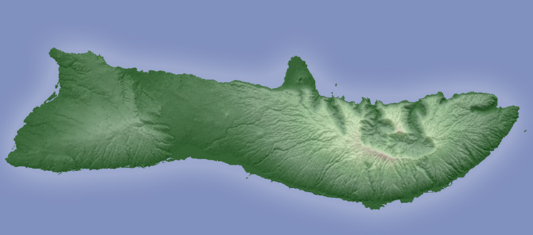 Shaded relief map of Molokai generated in AS3