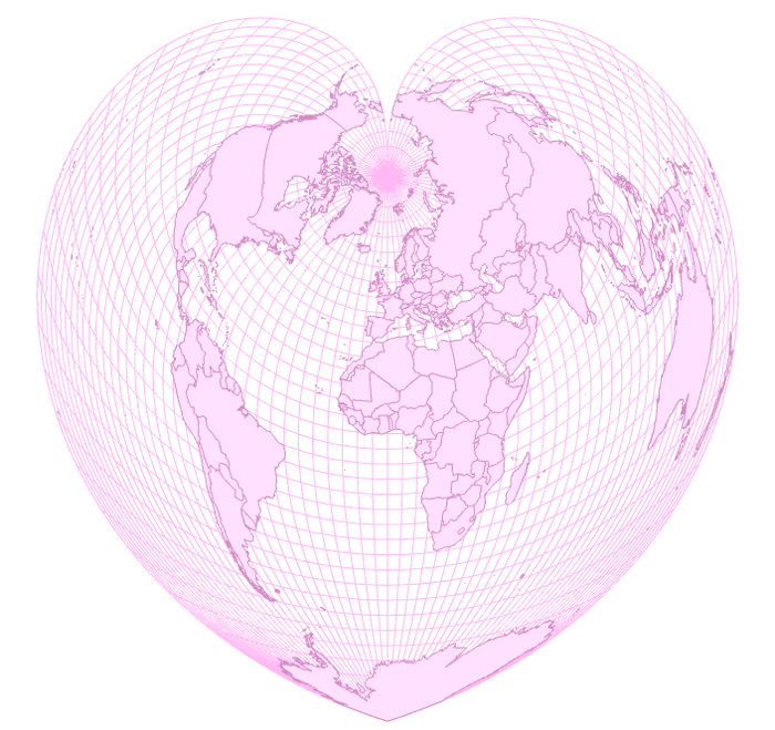The Werner projection for Valentine's Day