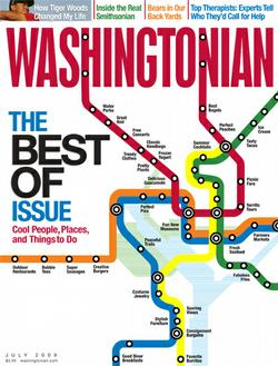 Washingtonian July 2009 cover