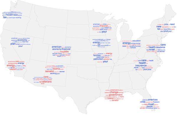 Campaign speeches word cloud map