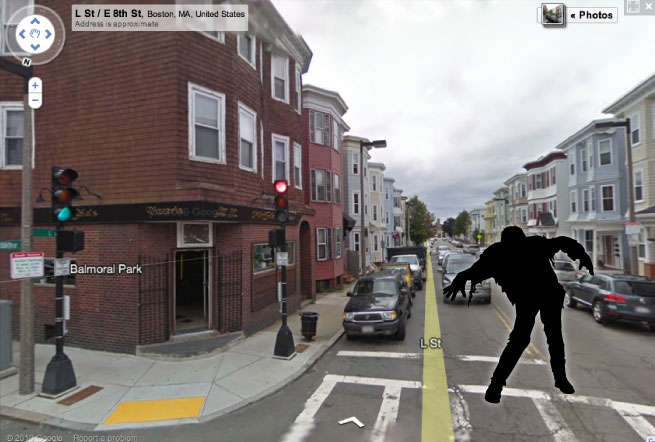 A Zombie in Google Street View
